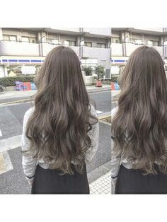 パープルアッシュ リドゥーヘアー Balayage Hair, Ombre Hair, Wavy Hair, Dyed Hair, Ulzzang Hair, Pretty Hair Color, Hair Affair, Hair Highlights, Hair Day