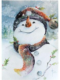 snowmen | Jingles the Snowman – Watercolor print | Asmalltowndad's Weblog