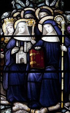 St Scholastica of Nursia | http://saintnook.com/saints/scholasticanursia | St Scholastica and sainted Abbesses