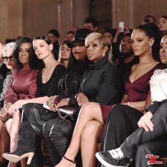 February Uzo Aduba, Katie Holmes, Mary J. Blige and Rihanna at Zac Posen Fashion show in New York Fashion Week 2015, Fashion Show, High Fashion, Uzo Aduba, Rihanna Looks, Shows In Nyc, Chic Hairstyles, Mary J, Maroon Dress