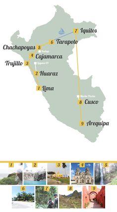 Peru Route für eine Rundreise