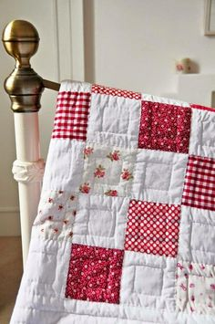 Love the hand stitching o. This quilt. Great for regular patchwork designs.