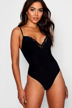 Womens Lace Detail Strappy one piece - black - 12 High Neck Bodysuit, Lace Bodysuit, Size 10 Models, Women's Shapewear, Night Outfits, Looking For Women, Lace Detail, Women Wear, One Piece
