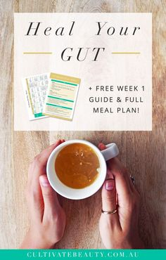 Start your gut healing journey for glowing skin, effortless weight loss, more energy + radiant health! Click to learn more and download the FREE Week 1 Guide + Meal Plan!