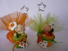 Présentoir à dragées brouette Bébé pot de fleurs et Abeille | Why Not Dragées