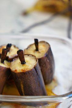Bananes rôties à la vanille et au sirop d'érable