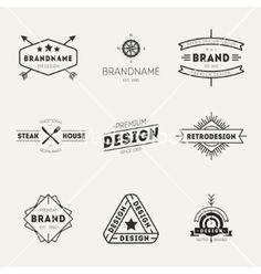 Retro vintage insignias or logo types set vector by TopVectors on VectorStock®