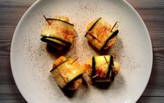 Vegan Baked Apple Zucchini Wraps With New Mexico Red Chili