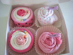 Bebé niña bodis y pañal Cupcakes Set de regalo