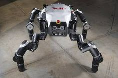 Limbed robot RoboSimian, which was developed at JPL, will compete in the DARPA Robotics Challenge, June 5 and 6. Credits: JPL-Caltech pia17302.jpg
