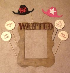 Western Theme Photobooth Props #photoboothetc