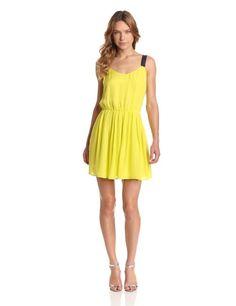 Amazon.com: Madison Marcus Women's Burst Contrast Back Detail Dress: Clothing