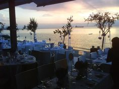 #Greece #Thessaloniki #dining #sunset #view Greece Thessaloniki, Team Building Activities, Greek Islands, Cyprus, Events, Table Decorations, Sunset, Dining, Greek Isles