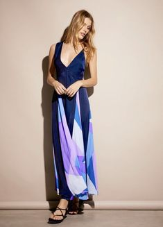 NWT Free People Special Edition blue purple Silky Spectrum Swing Maxi Dress S #FreePeople #Maxiswingmaxidress #versatile