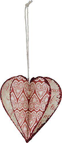 Primitives By Kathy 3d Heart Ornament - Valentine