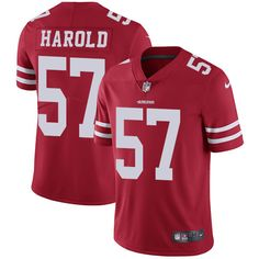 Youth Nike San Francisco 49ers #57 Eli Harold Limited Red Team Color NFL Jersey