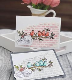 Stampin' Up! free as a bird, bird ballad suite Bird Cards, Butterfly Cards, Stampin Up Catalog, Stamping Up Cards, Tampons, Creative Cards, Greeting Cards Handmade, Homemade Cards, Making Ideas
