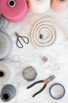 Rope Rainbow Wall Hanging DIY - Use your own thread colours to make a fun rainbow