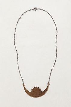 Rising Crescent Necklace - anthropologie.com