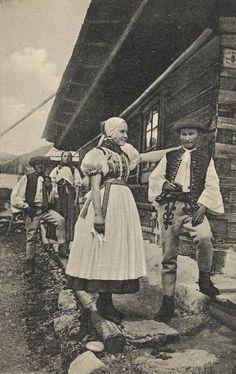 Pavol Socháň: Manželia v Stankovanoch Slovakia Human Poses, Folk Costume, Costume Dress, Do Homework, Historical Pictures, World Cultures, Alter, Folk Art, Character Design