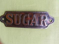 VINTAGE**METAL CANISTER LABEL**SUGAR