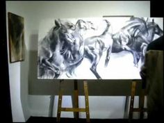 Alfredo Araujo Santoyo Dibujando y Pintando en vivo - YouTube