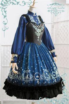 ♛~Ice Queen~♛ Lolita Corset JSK - Brand: IchigoMiko (The sub-brand of Strawberry Witch) Lolita Gothic, Gothic Mode, Pretty Outfits, Pretty Dresses, Beautiful Dresses, Cute Outfits, Lolita Fashion, Gothic Fashion, Asian Fashion