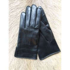 Schafsleder Handschuh Herren Mit Kashmir Futter