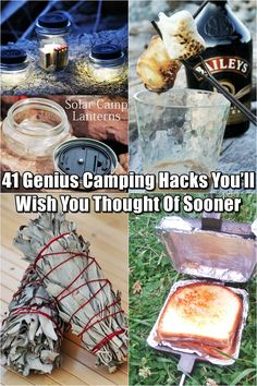 41 Genius Camping Hacks You'll Wish You Thought Of Sooner - This is a great collection of camping hacks that could make your camping trips better. It is the perfect weather right now to go camping so give these a try!