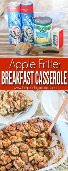 Apple breakfast casserole the pinning mama an easy breakfast casserole with bacon potatoes and eggs that is a sure crowd pleaser! this brunch recipe is the perfect way to spend your busy weekdays deliciously bake this easy recipe for the kids! Breakfast And Brunch, Vegetarian Breakfast Casserole, Christmas Breakfast Casserole, Apple Breakfast, Breakfast Dishes, Potluck Breakfast Recipes, Breakfast With Apples, Crockpot Breakfast Ideas, Office Breakfast Ideas
