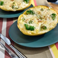 Chicken and Broccoli Twice-Baked Spaghetti Squash By Katie Lee