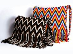 Cartera use woven pattern sliding into fringe for pillows?