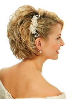 This, but curly. Short Wedding Hair Styles