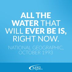 Water was, and still is, a precious resource.