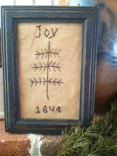 Primitive Sampler Christmas Tree Cross Stitchery 1849 | eBay