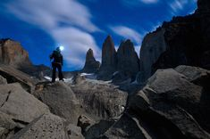 Photo by @michaelclarkphoto // Lydia McDonald trekking below the spires (torres) of Torres del Paine National Park in southern Chile. #torresdelpaine #chile by natgeotravel