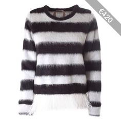 N° 21 Ostrich and mohair striped pull