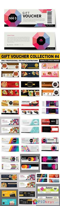 Gift Voucher Collection #4 - 25 Vector