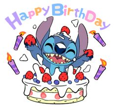 Stitch Stickers by The Walt Disney Company Ltd ( Japan). Stitch (also known as Experiment is a fictional character in the Lilo & Stitch. Lilo Stitch, Lilo And Stitch Quotes, Cute Stitch, Cute Disney Wallpaper, Wallpaper Iphone Disney, Happy Birthday Disney, Happy Birthday Drawings, Disney Stich, Stitch Drawing