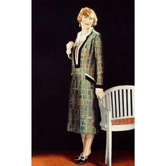 """286 mentions J'aime, 2 commentaires - History of Taste (@history_of_taste) sur Instagram: """"Robe d'après-midi par Amy Linker, Les Modes Mars 1925 #amylinker #lesmodes #fashion1925…"""""""