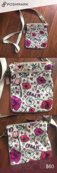 Coach poppy bag purple flowers coachoutlet coach poppy pochette signature fabric flower purse coach poppy flower perfume 34oz sweet freesia and the green floralcy of violet leaves come mightylinksfo