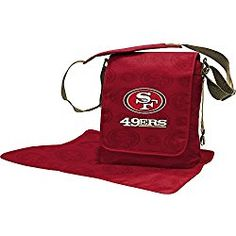 Show your little sports fan what team spirit really is with the Lil Fan NFL Messenger Diaper Bag. The spacious bag features a magnetic flap, insulated divider pocket, removable shoulder and backpack straps, and a coordinating, non-slip changing pad. Messenger Diaper Bags, Dad Diaper Bag, Nfl Green Bay, Green Bay Packers, Chicago Nfl, Chicago Bears, Nfl Bears, Little Sport, Nfl Buffalo Bills