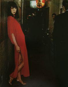 Sayoko Yamaguchi 山口小夜子 about1974 British magazine 『19』