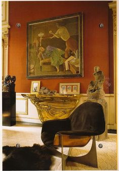 by French interior decorator, Henri Samuel Decoration Inspiration, Interior Inspiration, Decor Ideas, Interior Architecture, Interior And Exterior, Parisian Room, Interior Styling, Interior Decorating, Beautiful Interiors