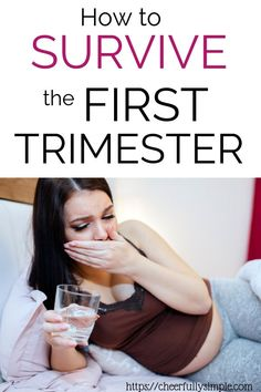 The first trimester is great for some pregnant moms and horribly miserable for many others. The nausea and exhaustion can become overwhelming at times. Use these tips to survive the first trimester of pregnancy. Trimesters Of Pregnancy, Pregnancy Months, Pregnancy Stages, Pregnancy Care, Early Pregnancy, First Trimester, Breastfeeding And Pumping, Preparing For Baby, Morning Sickness