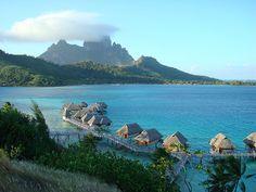 Bungalows - Bora Bora landscape