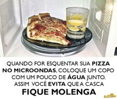 esquentando pizza no micro-ondas