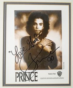 Prince Memorabilia: Mathieu Bitton's Extremely Rare Collection   Billboard - Signed print From 1989's 'Batman' by photographer Jeff Katz