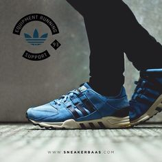 sneakerbaas@adidasoriginals #adidas #equipmentrunningsupport #sneakerbaas #baasbovenbaas Equipment Running Support 93- This Equipment Running Support comes in a light blue edition. The Upper is made from premium leather and textile. Now online available | Priced 139,95 Euro! | Size 41 EU - 45.3 EU.