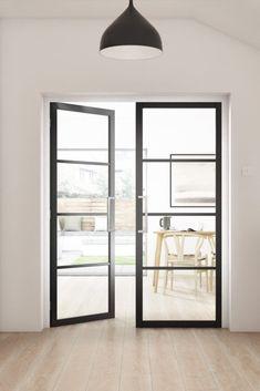 4 Panel Interior Door, Jeld Wen Interior Doors, Black Interior Doors, Glass Panel Door, Glass Front Door, Glass Doors, Jeld Wen Doors, Internal Glazed Doors, Inside Doors